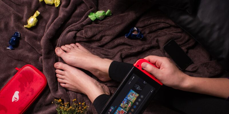 playing relax game controller